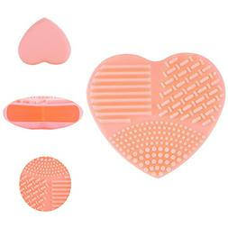 1 Pcs Heart Silicone Makeup Brush Set Scrubber Clean Cleaner