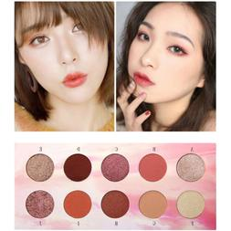MagiDeal 10 Colors Eyeshadow Palette Sweet Makeup Nude Shimm