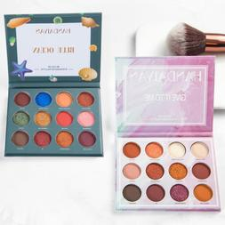 12Colors Shimmer Glitter Eyeshadow Palette Makeup Powder Cos