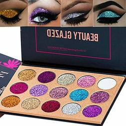 15 Colors Glitter Eyeshadow Palette Shimmer Ultra Pigmented