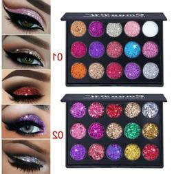 15 Colors Diamond Glitter Eye Shadow Sequins MakeUp Pressed