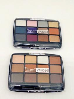 Beauty Treats 12 Color Metallic Eye Shadow 2 PC