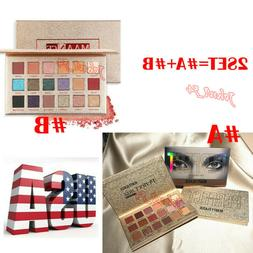 2PC 18 Color Beauty Glazed 18 Color Nude Shining Eyeshadow P