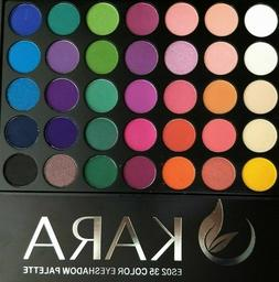 KARA 35 Color Eye Shadow Palette- Highly Pigmented 35 color