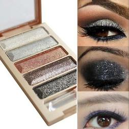 5Colors Shimmer Eyeshadow Palette Makeup Cosmetic Glitter Ey