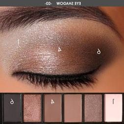 FOCALLURE 6 Colors Makeup Shimmer <font><b>Eyeshadow</b></fo