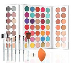 Beauty Glazed 63 Shades Eyeshadow Pigmented Shimmer Matte Ma