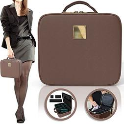 Deluxe Makeup Organizer Bag   Traveling Cosmetic Storage Box