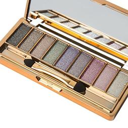 HP95 9 Colors Shimmer Eyeshadow Palette & Makeup Cosmetic Br
