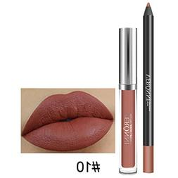 Long Lasting Lipstick Waterproof Matte Liquid Gloss Lip Line