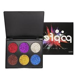 Makeupstore Eyeshadow Palette 6 Colors Shimmer Glitter Eye S