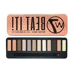 W7 Beat It! Eye Colour Palette Tin, 12 Eye Shadows + Eyebrow
