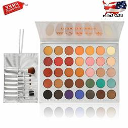 beauty glazed eyeshadow palette and makeup brushes