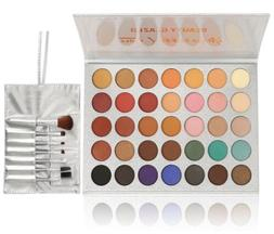 Beauty Glazed Eyeshadow Palette and Makeup Brushes,