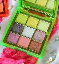 Huda Beauty Obsessions Eyeshadow Palette NEON Green 9 color