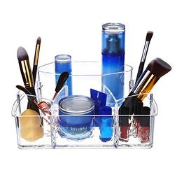 Clear Acrylic Makeup Organizer With Diamond Pattern,Acrylic