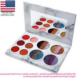 DE'LANCI 4+6 Shimmer Eyeshadow Makeup Palette Highly Pigment