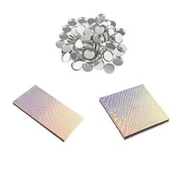 Homyl 2 Pieces Empty Mermaid Empty Magnetic Palette For Eyes