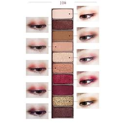 Hometom Best Pro Eyeshadow Palette - Shimmer 10 Colors - Nat