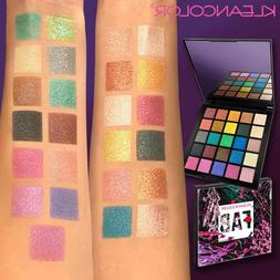 Kleancolor FAB 25 Color Eyeshadow Palette Glitter Iced Foile
