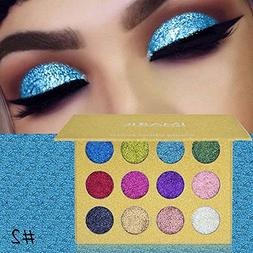 hermosotodo 12 Colors Hot Sale Glitter Shimmer Highlight Pow