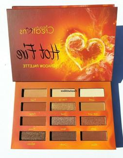 Hot Fire Eyeshadow palette Warm Tone 12 Colors Eyeshadow by