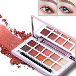 ICYCHEER Makeup Contrast Color Eyeshadow Palette 10 Colors E