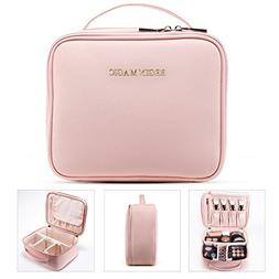 BEGIN MAGIC Mini Makeup Train Case/Portable makeup bag/Small