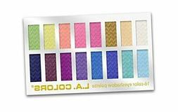 L.A. Colors 16 Color Eyeshadow Palette, Haute, 1.02 Ounce