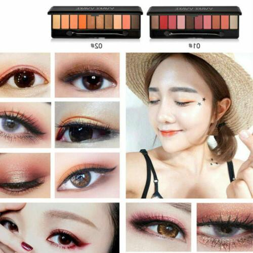 10 colors eyeshadow palette beauty makeup shimmer