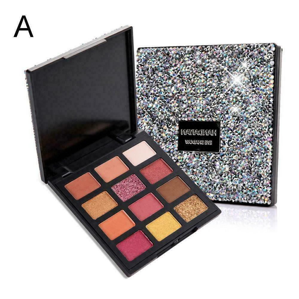 12 colors eyeshadow palette ultra pigmented pigment