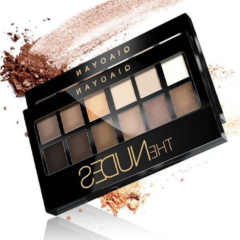 12 Colors <font><b>Eyeshadow</b></font> With Smoky Waterproof Eye Shadow WH998