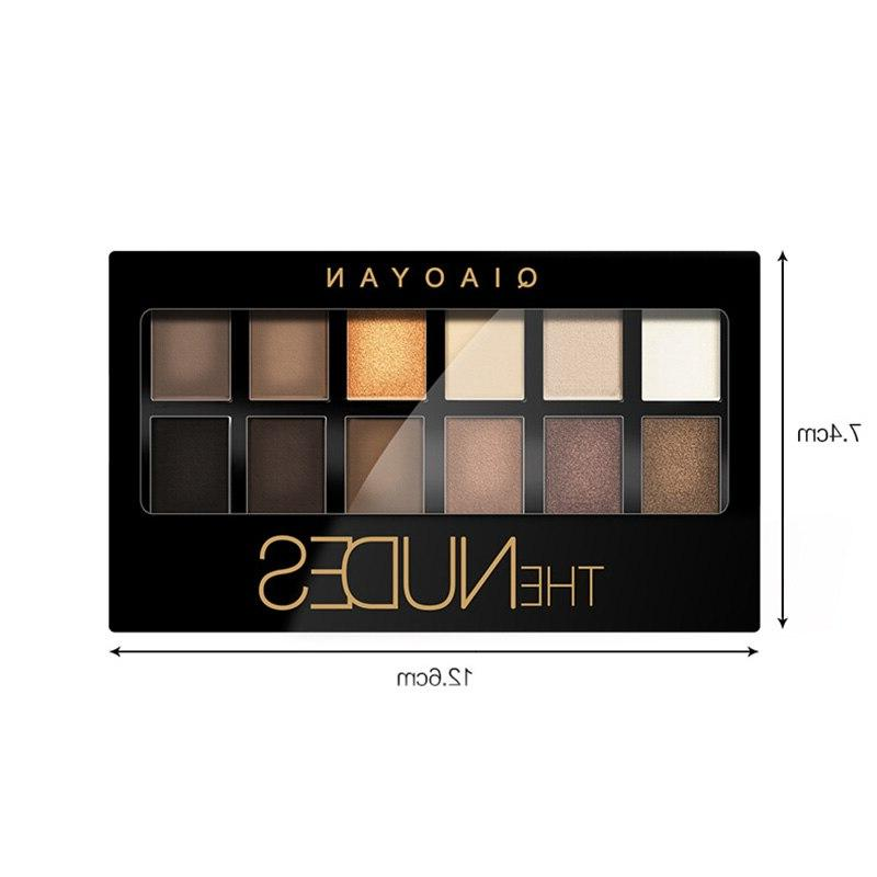 12 <font><b>Eyeshadow</b></font> <font><b>Palette</b></font> With Brush Smoky Shimmer Matte Waterproof WH998