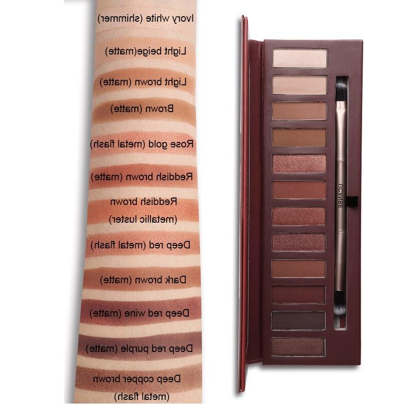 UCANBE 12 Molten Rock Heat Makeup Red Copper <font><b>Warm</b></font> <font><b>Eyeshadow</b></font>