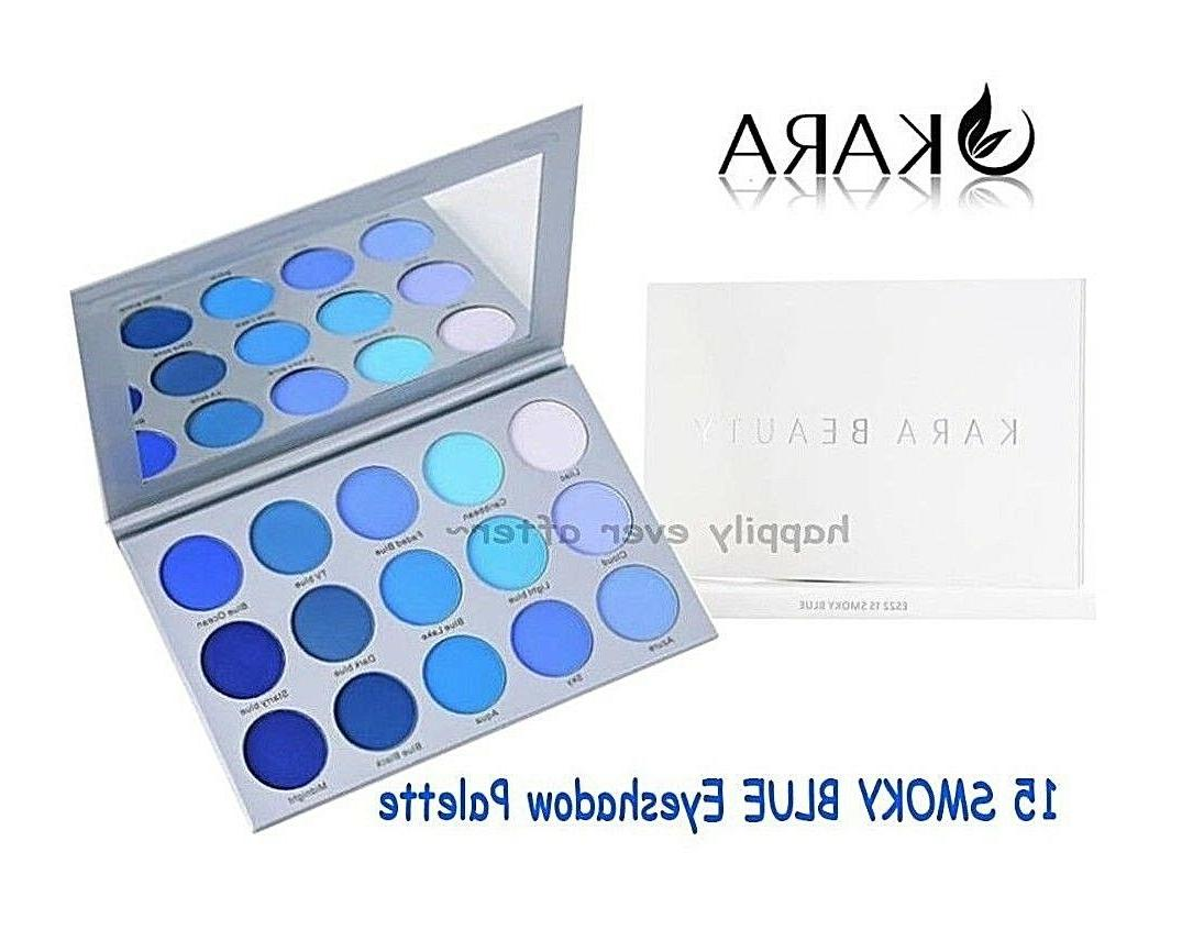 15 smoky blue eyeshadow palette highly pigmented