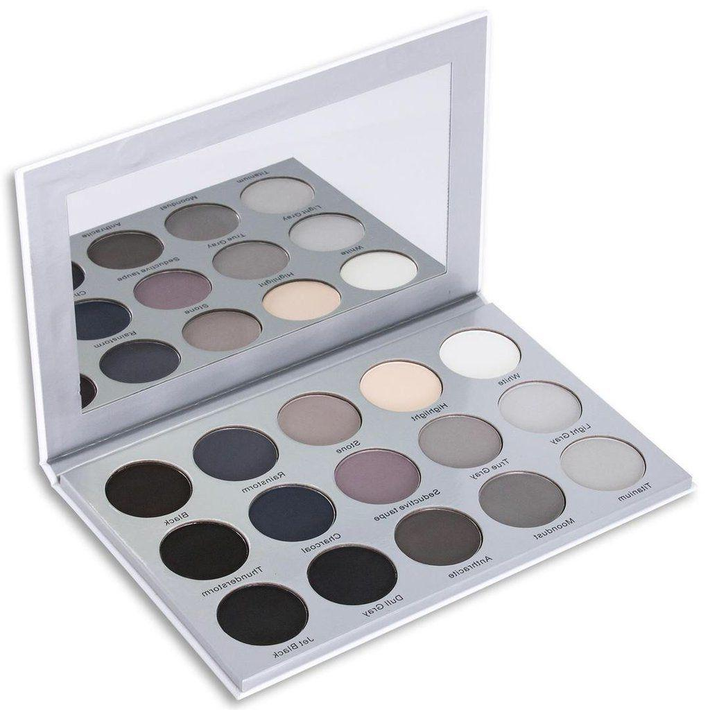 15 smoky grey eyeshadow palette highly pigmented