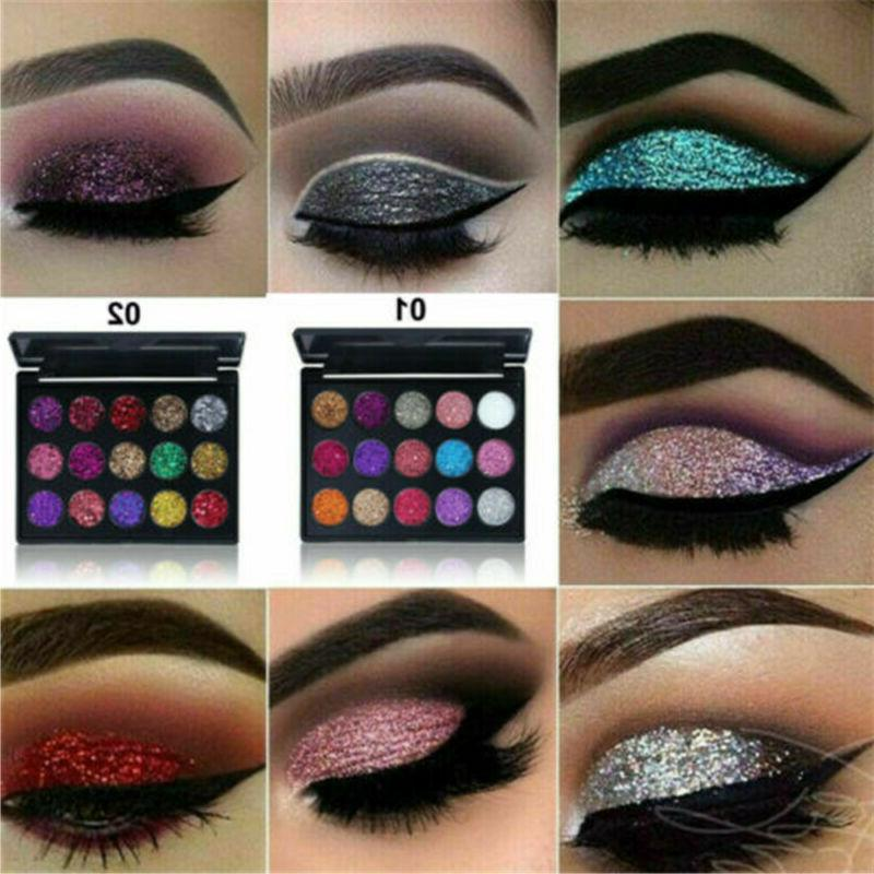 15Colors Eyeshadow Kit Shimmer Glitter Shadow Powder