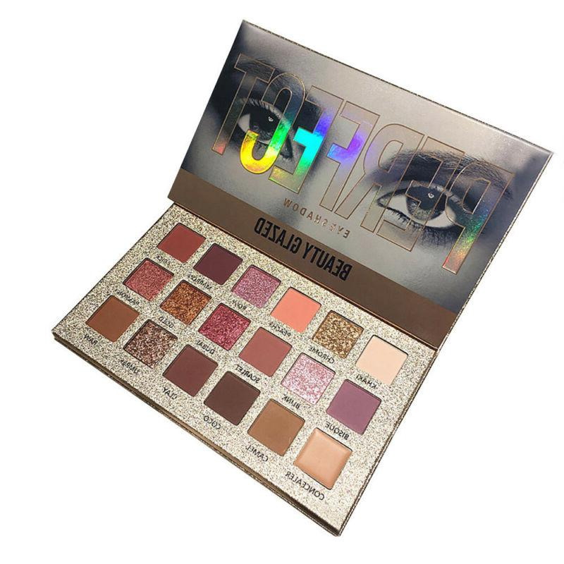 18 Glazed Eye Shadows Palette Glitter K9