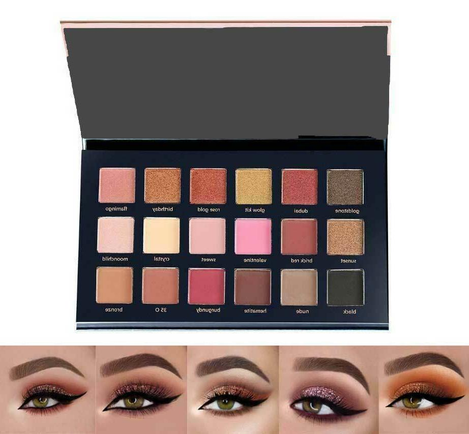 18 Colors Eyeshadow Palette Matte Shadow Makeup Shimmer Kit Set