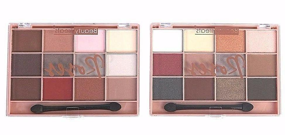2 palettes rose eyeshadow palettes all 24