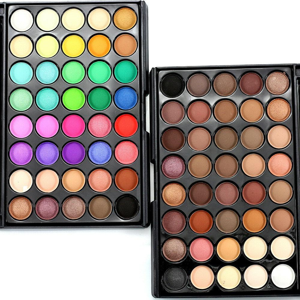 40 color cosmetic matte cream eye shadow