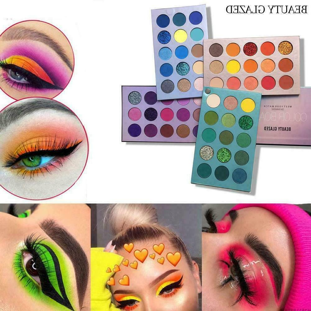 60 Colors BEAUTY GLAZED 4 In 1 Color Board Eyeshadow Lasting