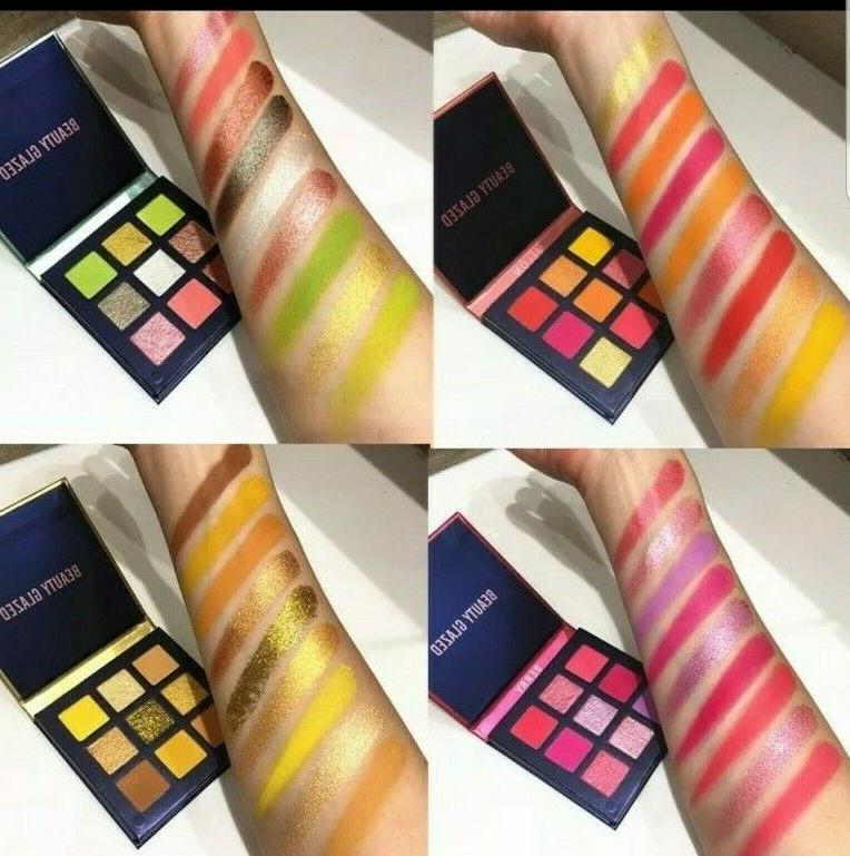 9 color shimmer matte eyeshadow makeup palette