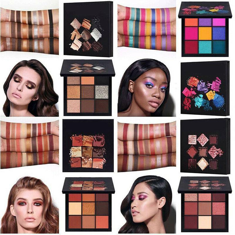 9 colors eyeshadow palette beauty makeup shimmer