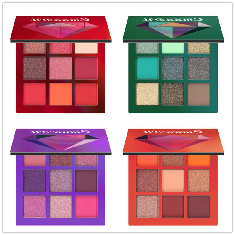 9 colors shimmer eyeshadow eye shadow palette