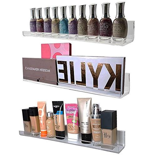 Acrylic Wall Mount Cosmetics Organizer: Makeup Palette Holde