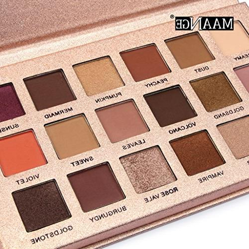 Homyl Colors Matte Eyeshadow Highly Pigmented - Nude Copper Sweet Peachy Color Shadows Cosmetic