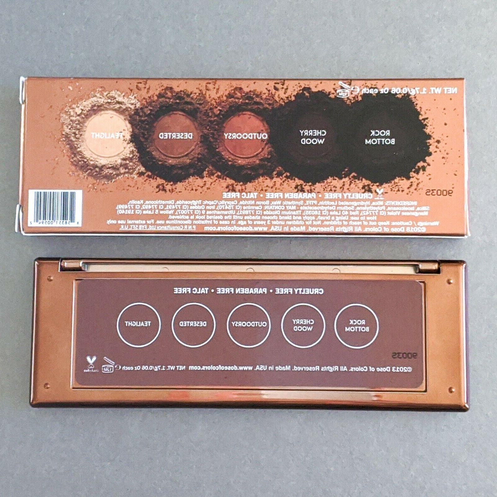 DOSE COLORS Browns Eyeshadow PALETTE |