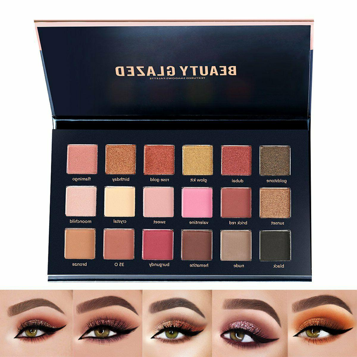 beauty glazed 18 colors shimmer and matte