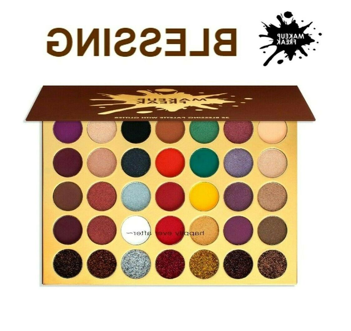 blessing 35 color eyeshadow palette with glitter